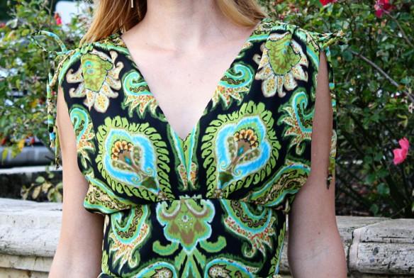 peacock dress closeup front