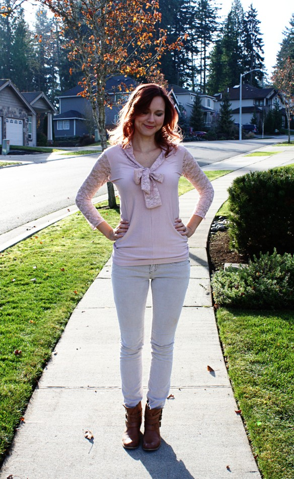 Jalie 2921 pink jersey outfit