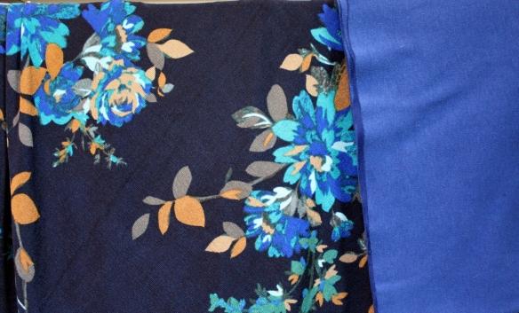 navy floral slinky
