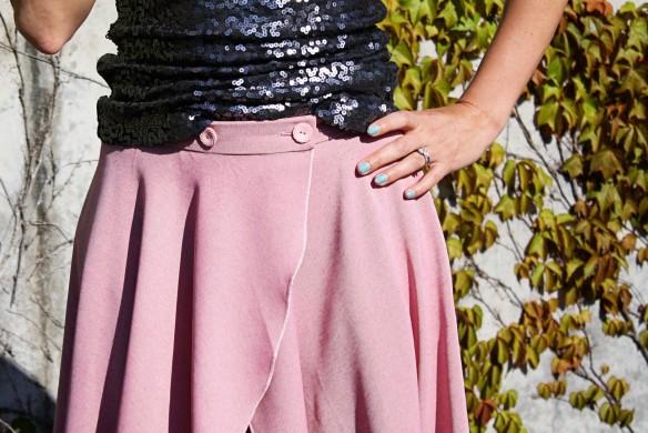 cascade skirt waistband
