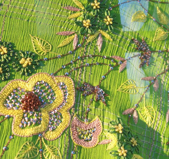 beaded embroidery kimono