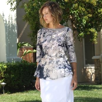 Named Silk Cotton Kanerva Blouse outside