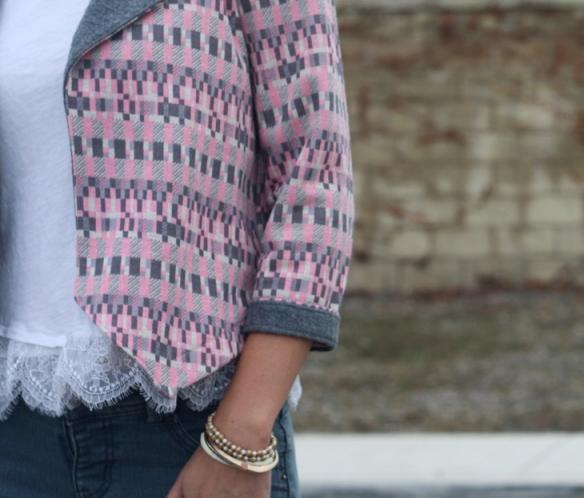 Grainline Morris blazer sleeve cuff